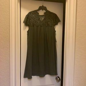 Decree Olive Green Dress-NWT